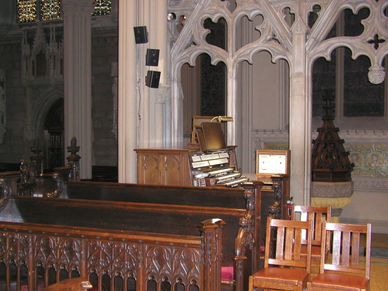 Chancel pipes of Schlicker Organ (1961) in Grace Episcopal Church - New York City (John Rust)