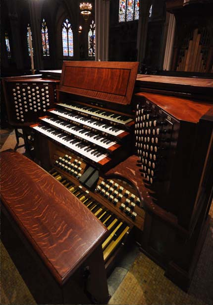 Taylor & Boody organ, Op. 65 (2013) in Grace Church - New York City (photo: Robbie Lawson)
