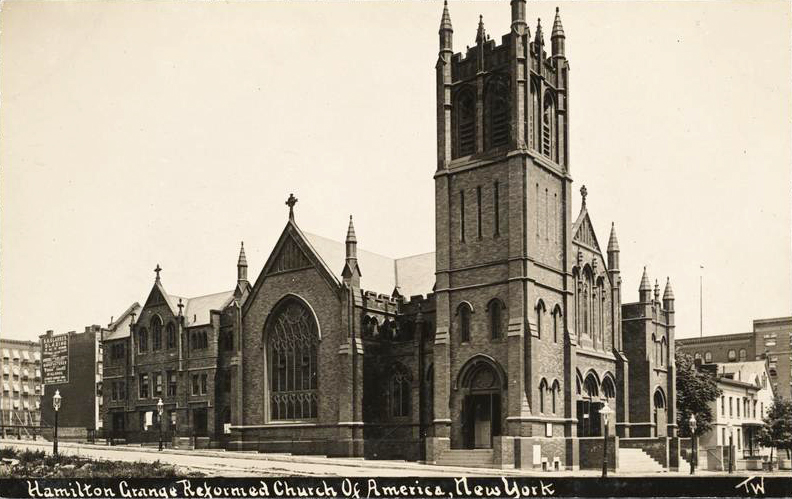 Postcard (c.1910) of Hamilton Grange Reformed Church - New York City (MCNY)