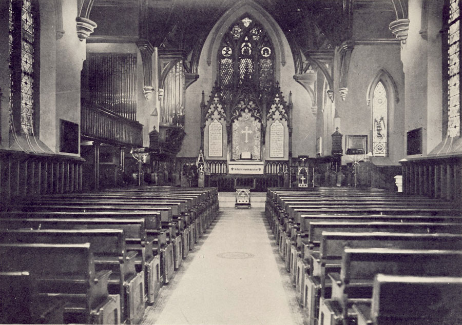 1946 photo of interior of Episcopal Church of the Holy Communion - New York City  (Episcopal Diocese of New York Archives)