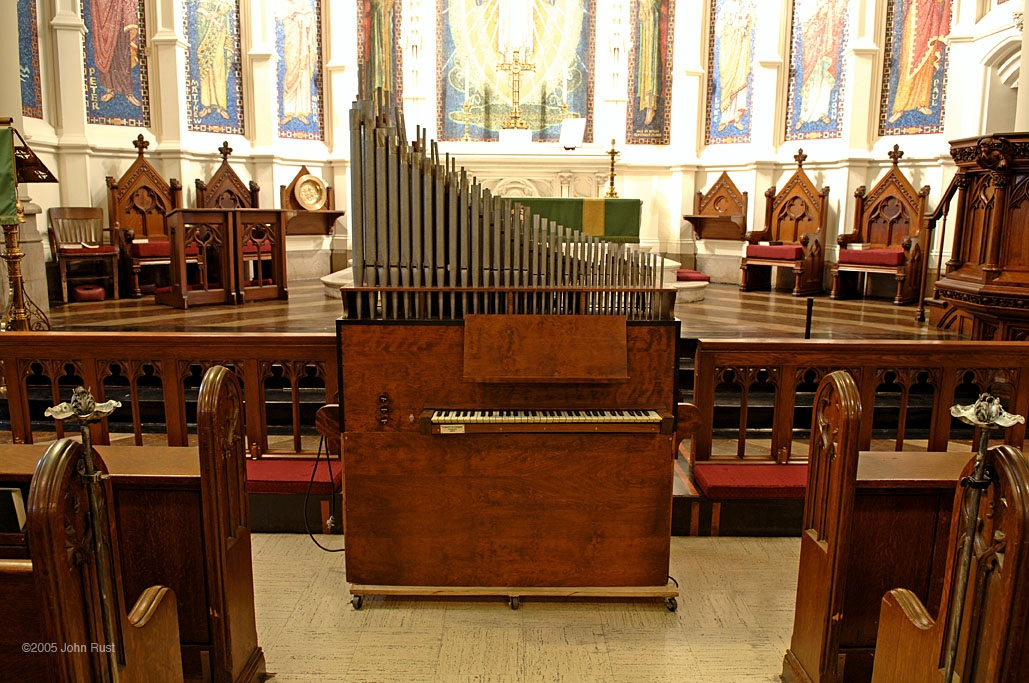 Robert M. Turner Portativ Organ (1974) - Evangelical Lutheran Church of the Holy Trinity - New York City (Photo: John Rust)