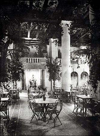 The Palm Garden in Hotel Astor (Times Square) - New York City (NYC Architecture Images website)
