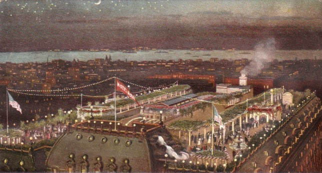 Postcard of the Roof Garden at the Hotel Astor (Times Square) - New York City