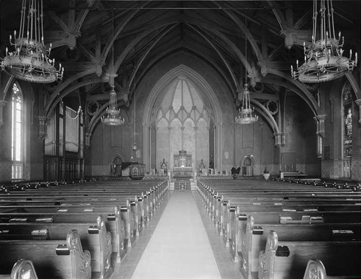 Interior of 1872 Church of the Intercession - New York City (courtesy Larry Trupiano)