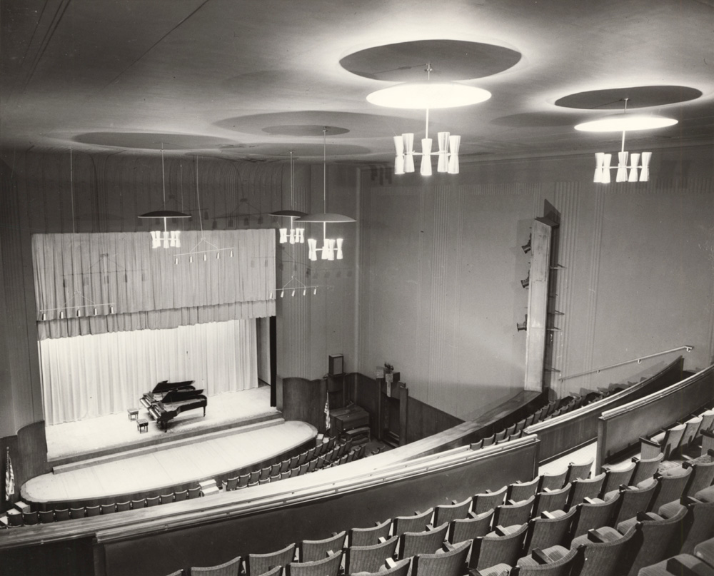 Casavant Frères Organ, Op. 1440 (1931) in Borden Auditorium of The Juilliard School - New York City (photo: Impact Photos, Inc.; courtesy Juilliard School Archives)