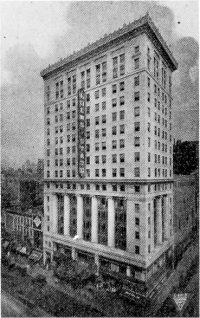 Loew's State Theatre and office building - New York City (photo: M.P. Möller, Inc. advert., ca.1925)