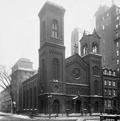 Madison Avenue Baptist Church (1859-1930) - New York City (Byron Company, 1907, MCNY)