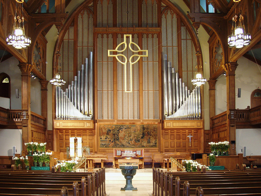Casavant Frères organ, Op. 2660 (1962) at Madison Avenue Presbyterian Church - New York City (photo: Steven E. Lawson)