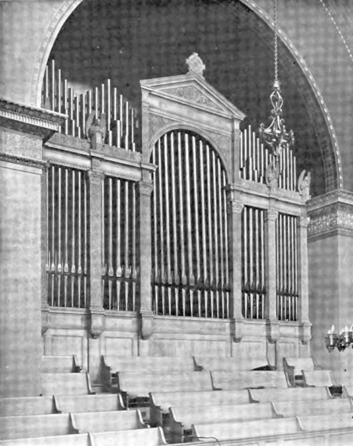 Gallery Case of Hutchings-Votey organ, Op. 1550 (1904) in Madison Square Presbyterian Church - New York City
