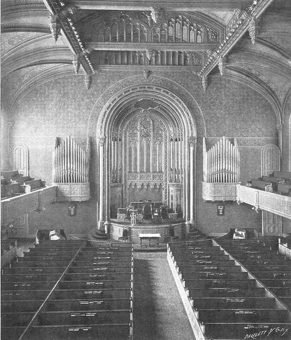 Odell Chancel Organ, Op. 296 (1891) at Marble Collegiate Church - New York City (Odell Co. Brochure, 1896)