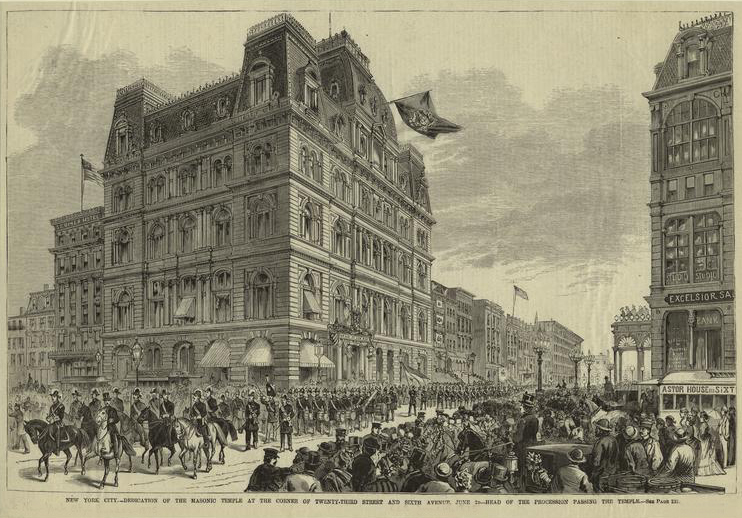 The Masonic Temple (1875) - New York City (Harper's Weekly)