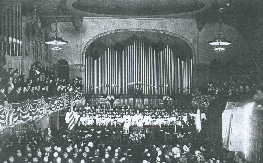 Dedication of Estey Organ, Op. 611 (1908) in the Metropolitan Temple Methodist Episcopal Church - New York City