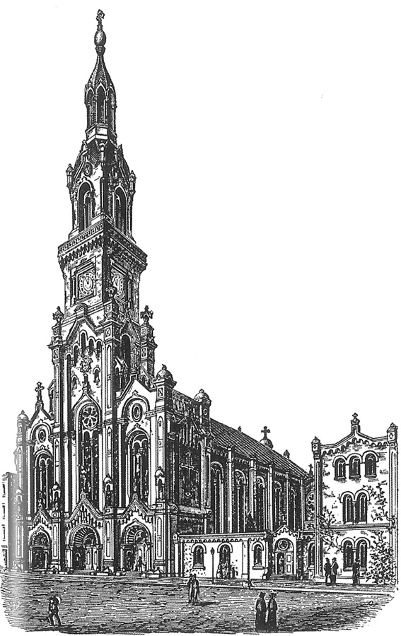 Original design of Most Holy Redeemer Catholic Church - New York City