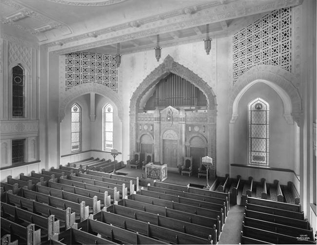 Mount Neboh Synagogue - New York City (Wurts Bros., 1928)