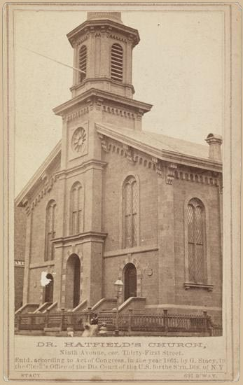 North Presbyterian Church - New York City (1899 cabinet card)