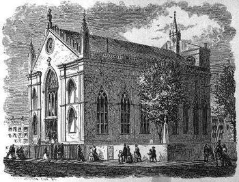 Engraving of Old St. Patrick's Cathedral - New York City