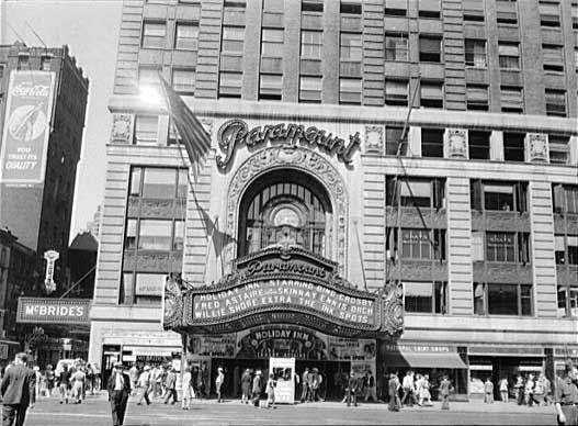 Entrance to the Paramount Theatre - New York City