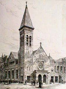 Park Avenue Methodist Episcopal Church - New York City (Harper's Weekly, March 1884)