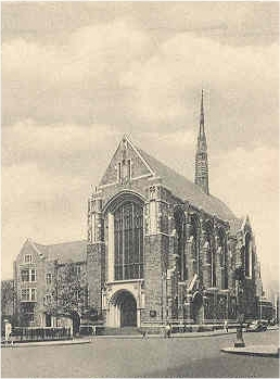 South Reformed Church at 1010 Park Avenue - New York City (postcard, ca. 1945)