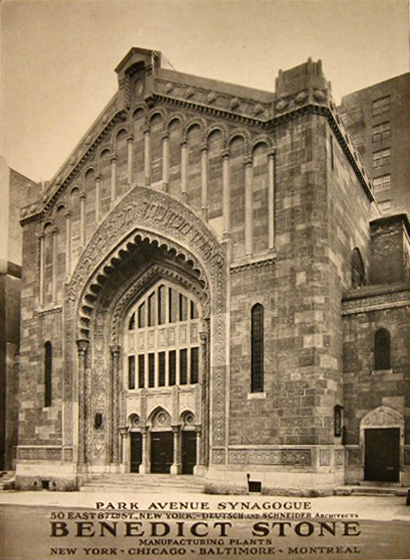 Park Avenue Synagogue - New York City (The Architect, June 1927)