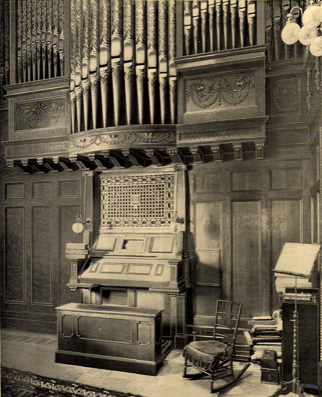 Aeolian Organ, Op. 802 (1895) in the David S. Brown Residence - New York City (Aeolian Company brochure)