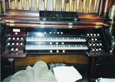 Console of Aeolian Organ, Op. 871 (1899) in the Fabbri-Steele Mansion - New York City