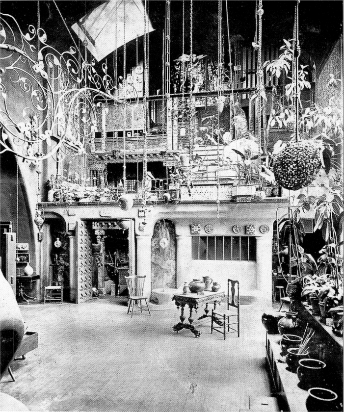 Aeolian Organ, Op. 925 (1902) in the Studio of Louis Comfort Tiffany - New York City (photo: Organ Historical Society)