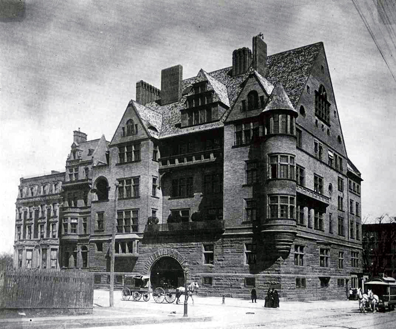 1886 photo of Louis Comfort Tiffany Residence - New York City (photo: New York Architecture Images)
