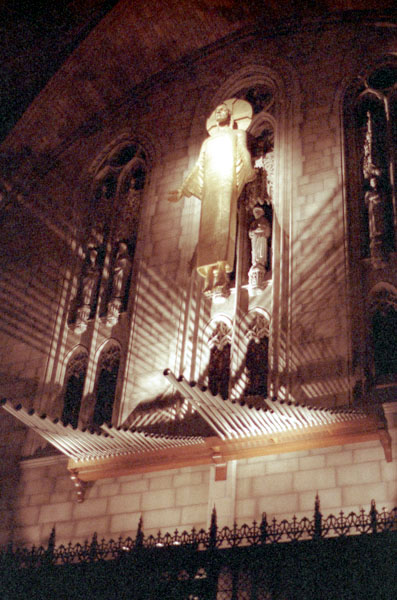 Trompeta Majestatis installed in 1978 on the Aeolian-Skinner Organ, Op. 1118 at the Riverside Church - New York City (photo: Ken Stein)