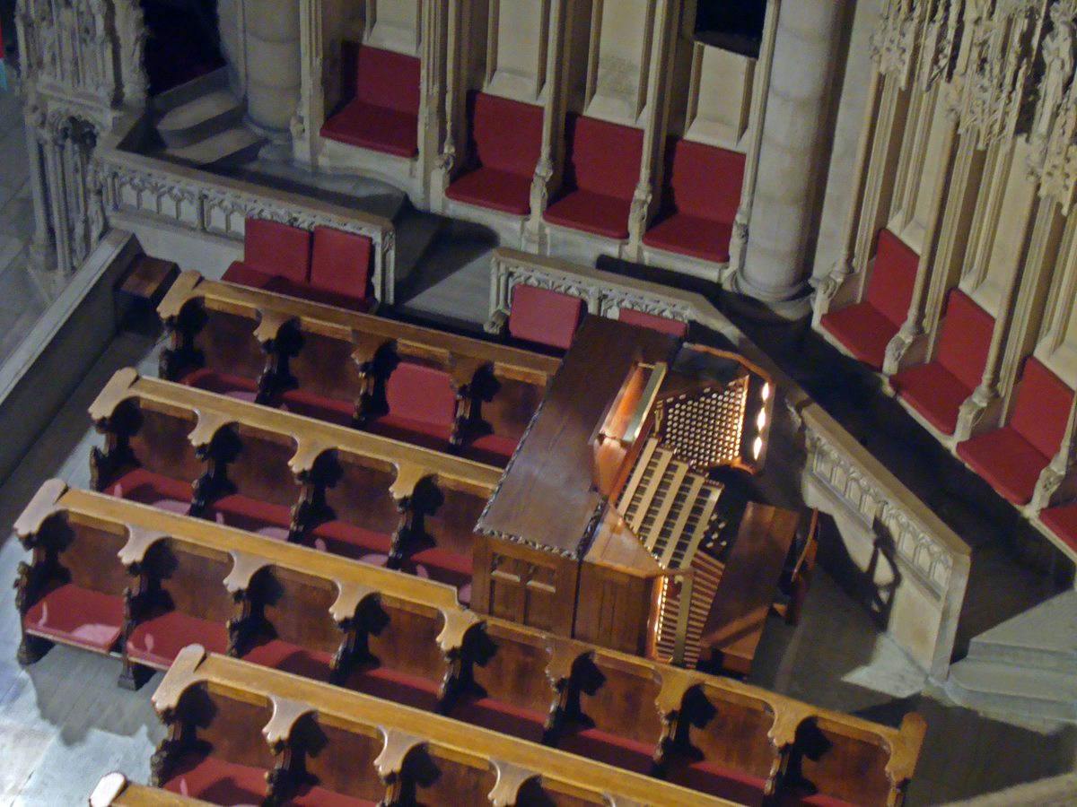 Console of Aeolian-Skinner organ, Op. 1118 in the Riverside Church - New York City (credit: Jeremy Wance)