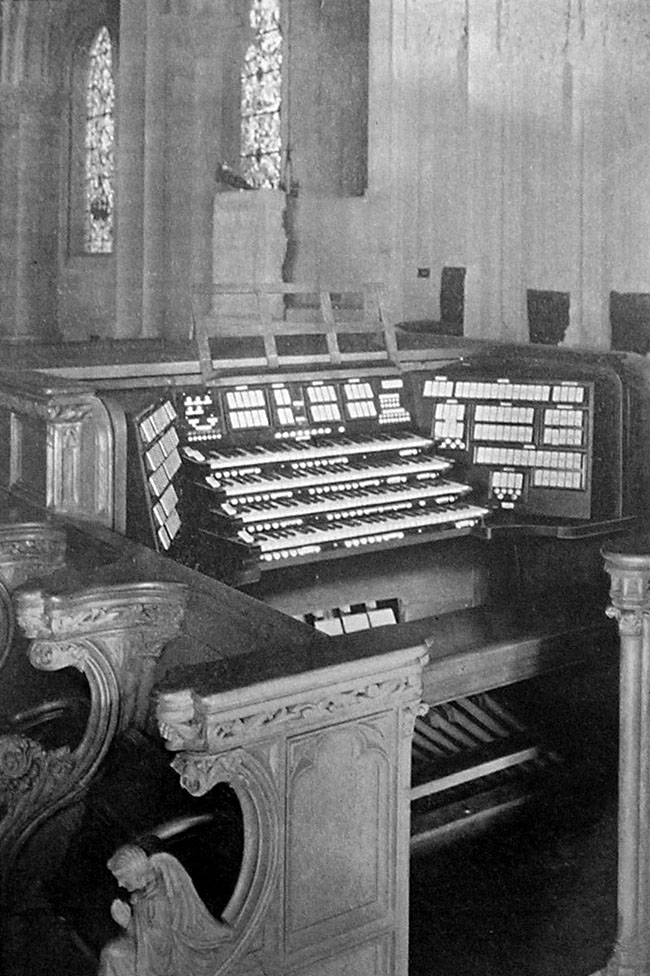 Hook & Hastings Organ, Op. 2540 (1927) at The Riverside Church - New York City (photo: The Diapason, Dec. 1930)