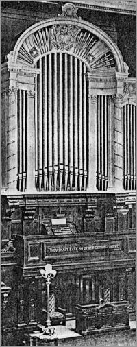Facade and console of J.H. & C.S. Odell Organ, Op. 369 (1899) at the Second Church of Christ, Scientist - New York City