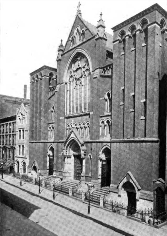 Original building (c.1911) of St. Agnes Catholic Church - New York City