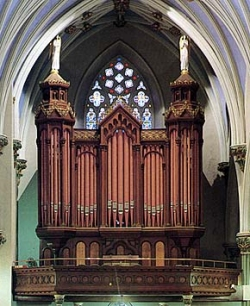 E. & G.G. Hook Organ, Opus 576 (1871) in St. Mary's Catholic Church - New Haven, Conn. (photo: William T. Van Pelt)