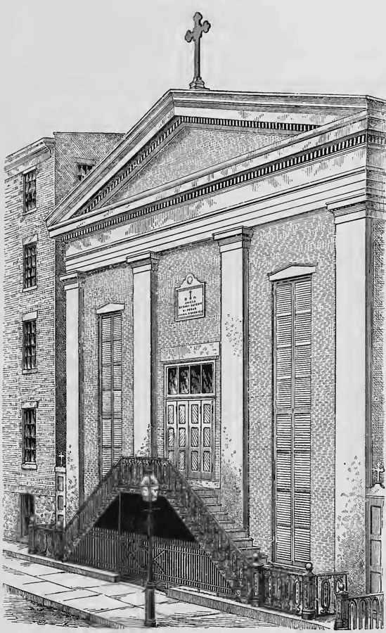 St. Anthony of Padua Catholic Church - New York City (1877 Drawing)