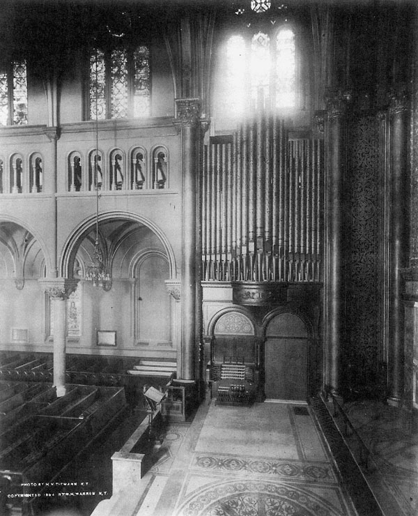 Hutchings Organ, Op. 402 (1893) at St. Bartholomew's Episcopal Church - New York City (St. Bartholomew Church Archives)