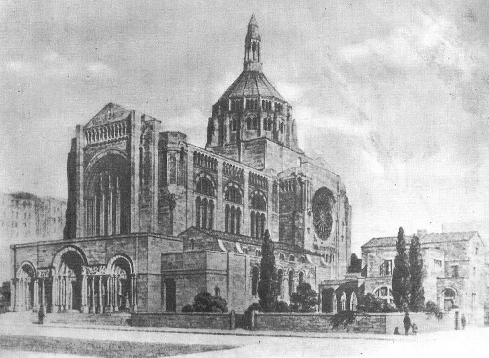 Bertram Goodhue proposal (1916) for St. Bartholomew's Church - New York City