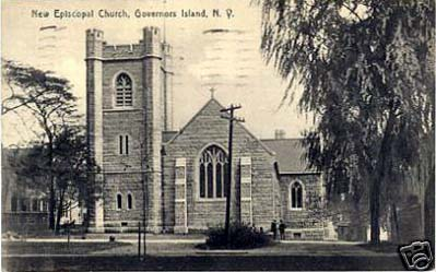 1910 Postcard of the Episcopal Chapel of St. Cornelius the Centurion - Governors Island, New York City
