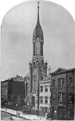 1844 Engraving of the Roman Catholic Church of St. Francis of Assisi - New York City