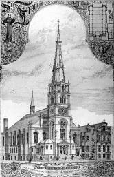 1892 Engraving of the Roman Catholic Church of St. Francis of Assisi - New York City