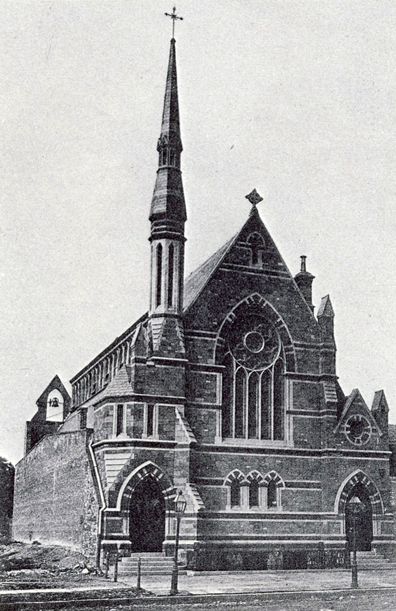 The second (1869-1884) St. James Episcopal Church on East 72nd Street at Third Avenue - New York City (Epis. Diocese of New York Archives)