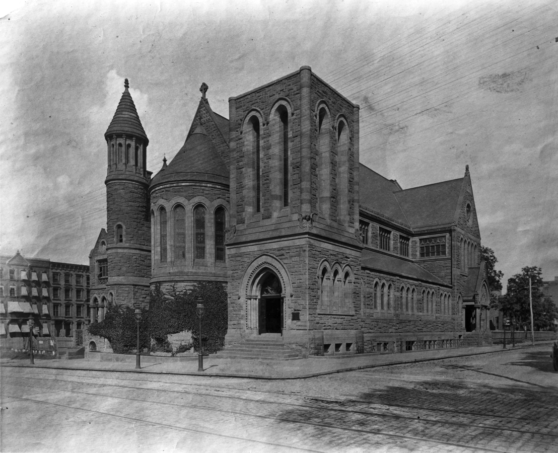 c.1884 photo of St. James Episcopal Church on Madison Avenue at 71st Street - New York City (Epis. Diocese of New York Archives)