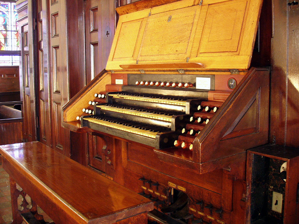 Roosevelt Organ, Op. 421 (1889) at St. James Roman Catholic Church - New York City (photo: Steven E. Lawson)