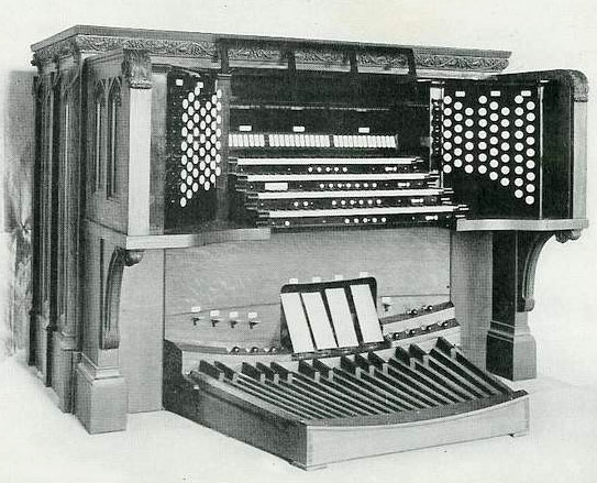 Console of Ernest M. Skinner Organ, Op. 150 (1911) at the Cathedral of St. John the Divine - New York City
