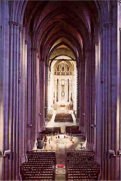 Interior - Cathedral Church of St. John the Divine - New York City