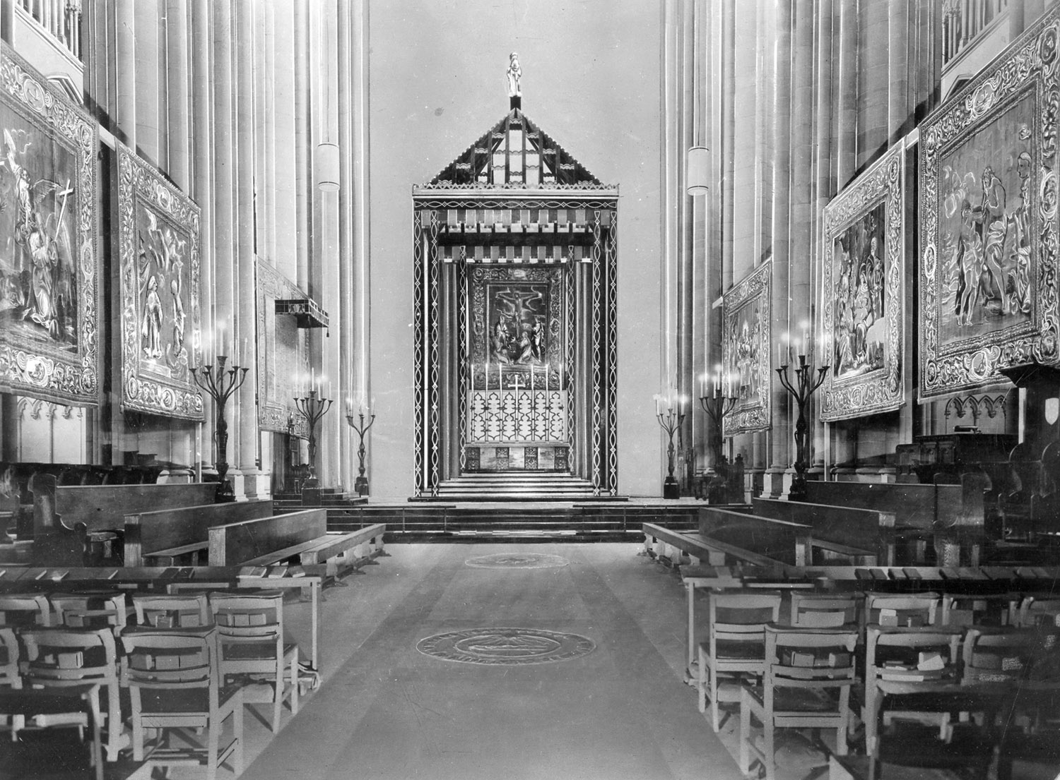 Temporary Nave Altar (c.1939) in the Cathedral Church of St. John the Divine - New York City (NY Diocesan Archives)