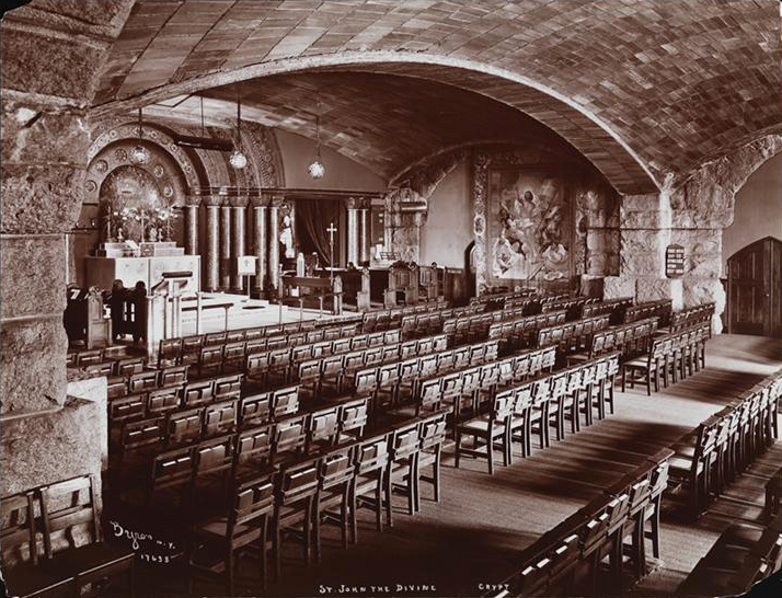 Crypt of the Cathedral Church of St. John the Divine - New York City (MCNY: Byron Co., 1904)