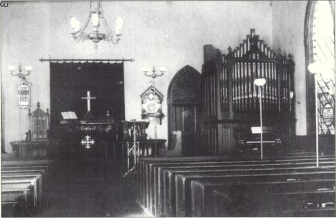 Geo. Jardine & Son organ (<1891) in original St. Mary Episcopal Church - (Manhattanville) New York City (Episcopal Diocese of New York rchives)