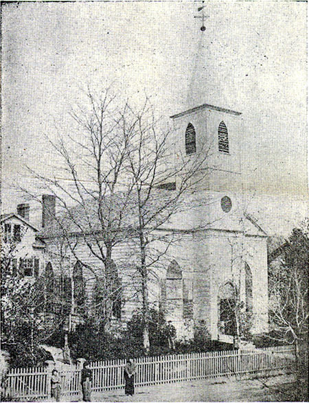 Original edifice (1826-1909) of St. Mary Episcopal Church - (Manhattanville, Harlem), New York City