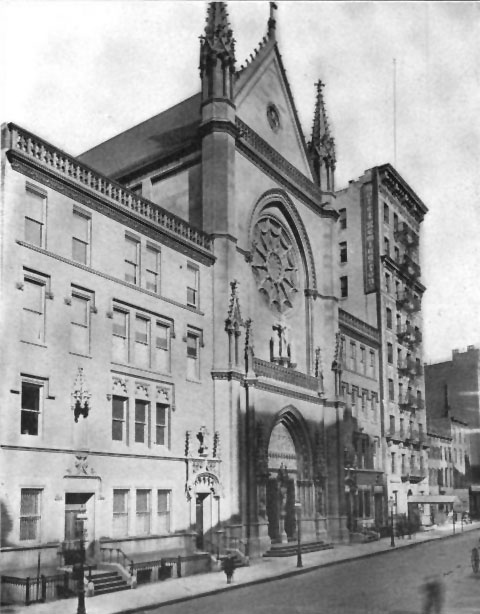 c.1910 photo of the Church of St. Mary the Virgin - New York City (The Architectural Record, May 1910)